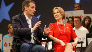 "Ted Cruz taps Carly Fiorina. TPV Wonders if Ted Meant ""Tapes"""